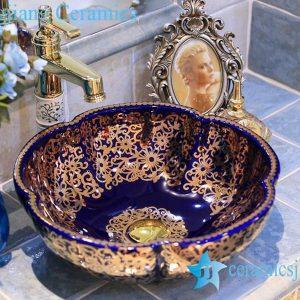 LT-X1A3624  Jingdezhen art ceramic wash basin / unique bathroom sink