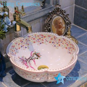 LT-X1A3667 Jingdezhen art ceramic wash basin / unique bathroom sink