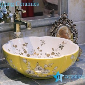 LT-X1A3884 Jingdezhen art ceramic wash basin / unique bathroom sink