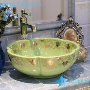 LT-X1A3916 Jingdezhen art ceramic wash basin / unique bathroom sink