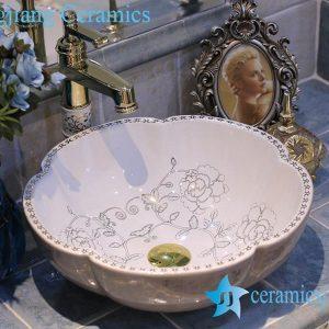 LT-X1A4017 Jingdezhen art ceramic wash basin / unique bathroom sink