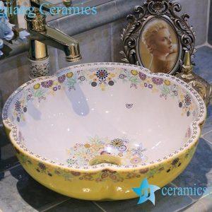 LT-X1A4066 Jingdezhen art ceramic wash basin / unique bathroom sink