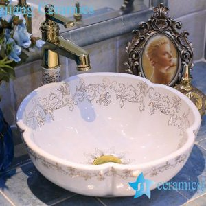 LT-X1A4120 Jingdezhen art ceramic wash basin / unique bathroom sink