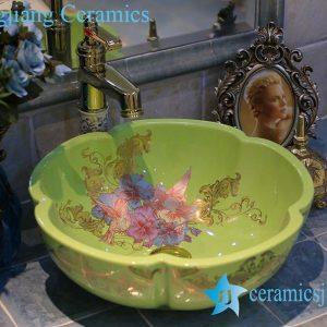 LT-X1A4173 Jingdezhen art ceramic wash basin / unique bathroom sink