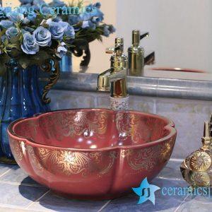 LT-X1A4226 Jingdezhen art ceramic wash basin / unique bathroom sink