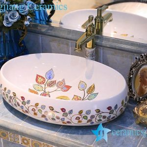 LT-X1A4283 Jingdezhen art ceramic wash basin / unique bathroom sink