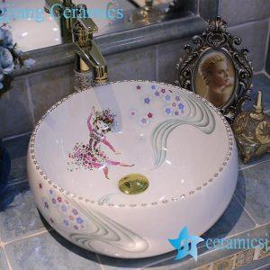 LT-X1A4364 Jingdezhen art ceramic wash basin / unique bathroom sink
