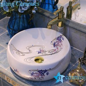 LT-X1A4395 Jingdezhen art ceramic wash basin / unique bathroom sink