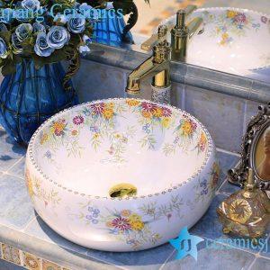 LT-X1A4438 Jingdezhen art ceramic wash basin / unique bathroom sink