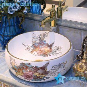 LT-X1A4453 Jingdezhen art ceramic wash basin / unique bathroom sink