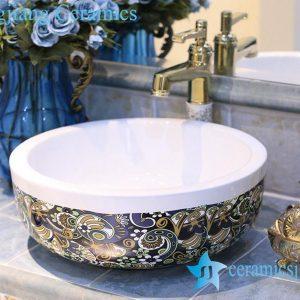 LT-X1A4463 Jingdezhen art ceramic wash basin / unique bathroom sink