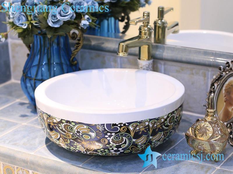 LTX1A4463 Jingdezhen art ceramic wash basin unique bathroom