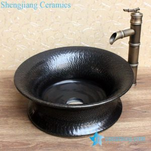 YL-B0_2072 Made in China plain solid color tunic ceramic counter top vanity wash basin