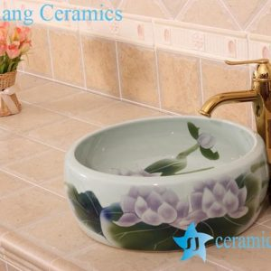 YL-B0_6834 Hot sale independent type round ceramic basin bowl sink