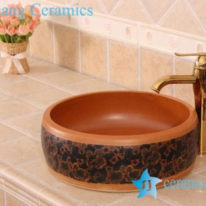 YL-B0_7229 China wholesale pottery type round counter top sink basin