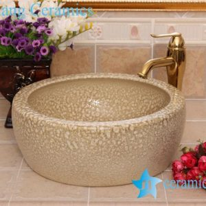 YL-B0_8227 China supplier hot sale round waist drum style ceramic sanitary ware wash basin