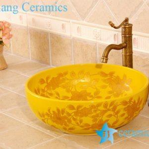 YL-C_4476 Round counter above ceramic wash hand rinse