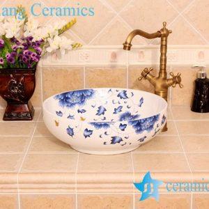 YL-C_4568 Round art ceramic counter top wash hand rinse
