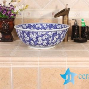 YL-E_8526 Hot sale factory direct sale blue and white porcelain hand wash basin sink