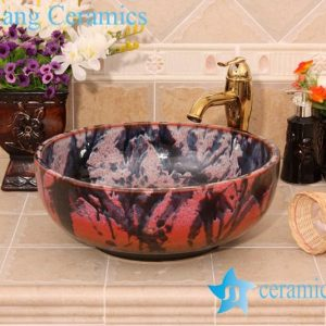 YL-H_6429 Unique design bright finished table top ceramic wash basin sink lavobo