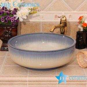 YL-H_6436 Thick layer fancy transmutation glazed hot sale decorative round shampoo sink