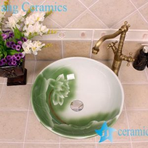 YL-M_4107 Brilliant surface cheap decorative round porcelain counter top shampoo sink basin
