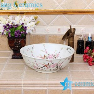 YL-M_5547 Cheap antique white porcelain ceramic sink basin bowl