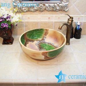 YL-OT_0627 Exquisite round ceramic antique kitchen sink