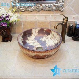 YL-OT_0636 Fancy ceramic bathroom foot basin