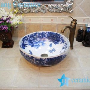 YL-OT_0645 Blue and white round ceramic washing bowl