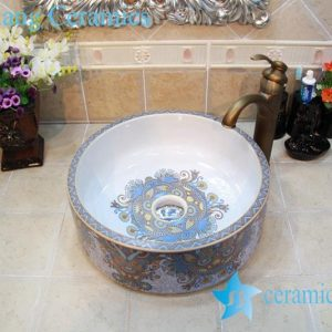 YL-OT_0752 Morocoo style exotic gorgeous round wash basin sink bowl