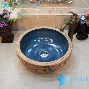 YL-OT_0754 Low price thicken wall fake stone sink ceramic material