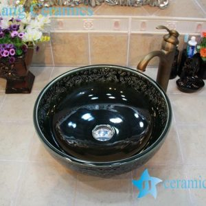 YL-OT_0764 Easy cleaning ceramic black small kitchen sink