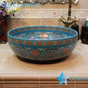 YL-OT_1629 Morocoo style fashionable round blue catch basin