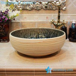YL-OT_1665 Ivory no glaze china ware surface folding washbasin