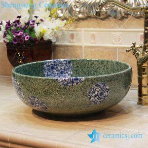 YL-OT_1745 Green porcelain jade type foot wash basin
