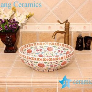 YL-OT_5054 Moroccan fountain sink ceramic material round type