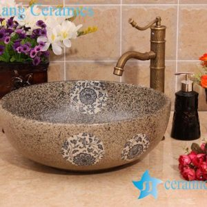 YL-O_6940 For small bathroom china ware round sink