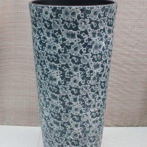 YL-TZ-0036 Floral pattern high ceramic pedestal colored bathroom sink