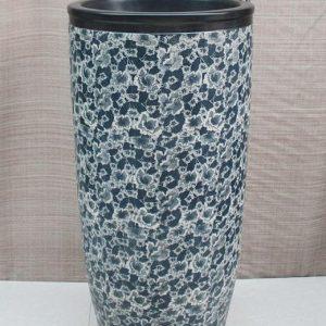 YL-TZ-0037 Plump column floral design ceramic pedestal sink