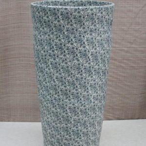 YL-TZ-0038 Blue Floral design pedestal porcelain sink basin for bathroom