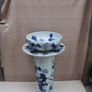YL-TZ-0067 washroom items blue and white ceramic pedestal sanitary ware