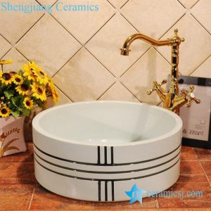 ZY-0010 Modern type solid color ceramic bucket and sink