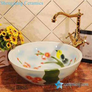 ZY-0013 Colored ceramic sink basin for bathroom outdoor bar