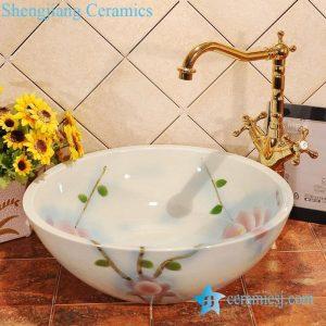 ZY-0015 Exquisite art ceramic round wash face basin bowl