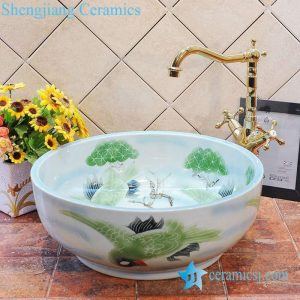 ZY-0018 Small ceramic bathroom sink for cabinet