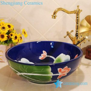 ZY-0025 Craig blue ceramic bathroom sanitary sets