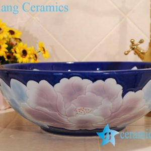ZY-0026 Fair price china lavatory ceramic material peony flower type