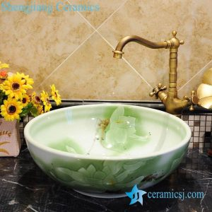 ZY-0044 Popular design for bathroom round porcelain foot wash basin
