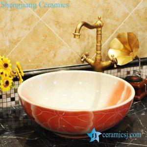 ZY-0054 Round ceramic wash basin low price